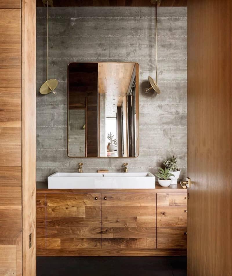 Beautiful Wood Bathroom