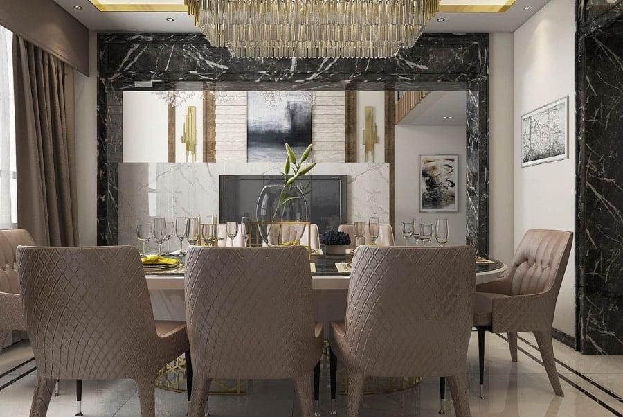 Aisian design dining room