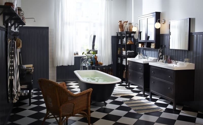 Bathroom with storage
