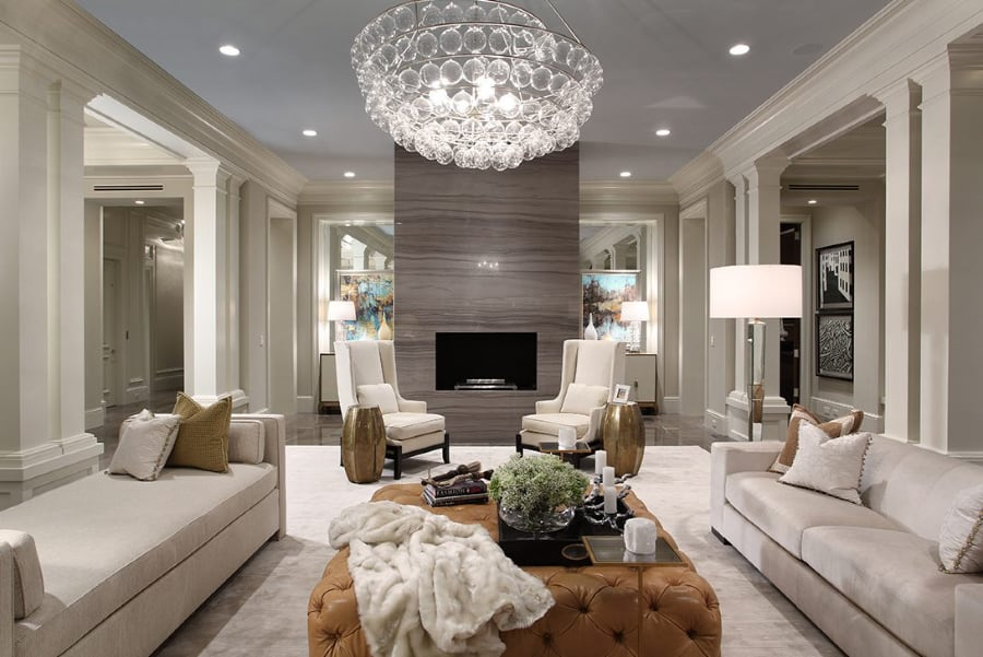 Sophisticated-Transitional-Fireplace