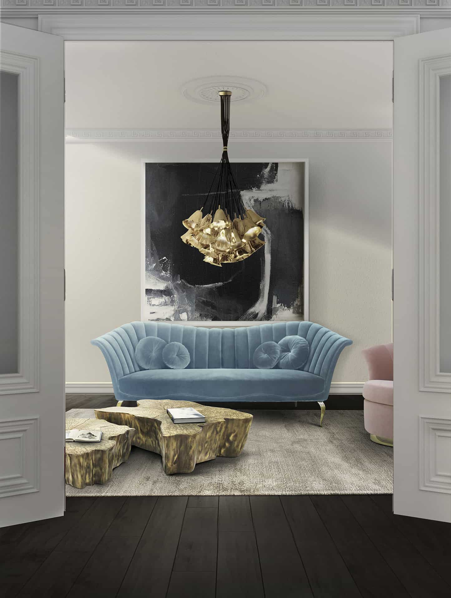 blue-sofa painted walls
