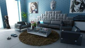 An example of a beautiful living room to take inspiration from when decorating your home