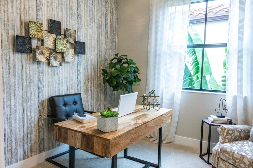 home office ideas decor with natural elements